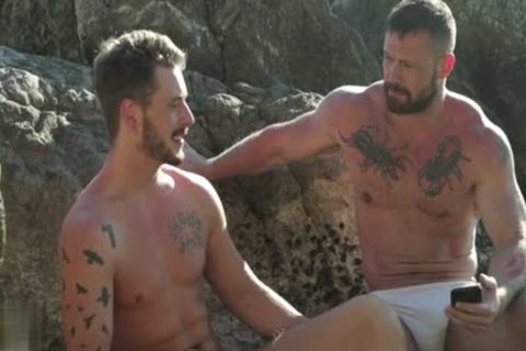 Muscle gay Outdoor And ball cream flow